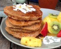 Tropical Carrot Cake Pancakes