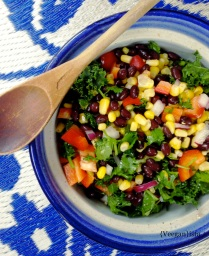 Black Bean & Kale Salad