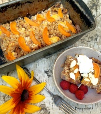 Peaches'N Cream Baked Oatmeal